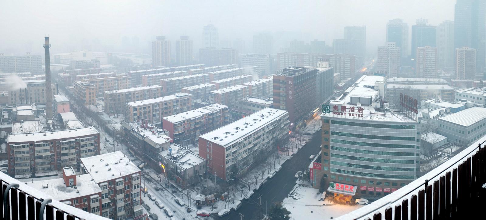 Pano_Beijing Schnee